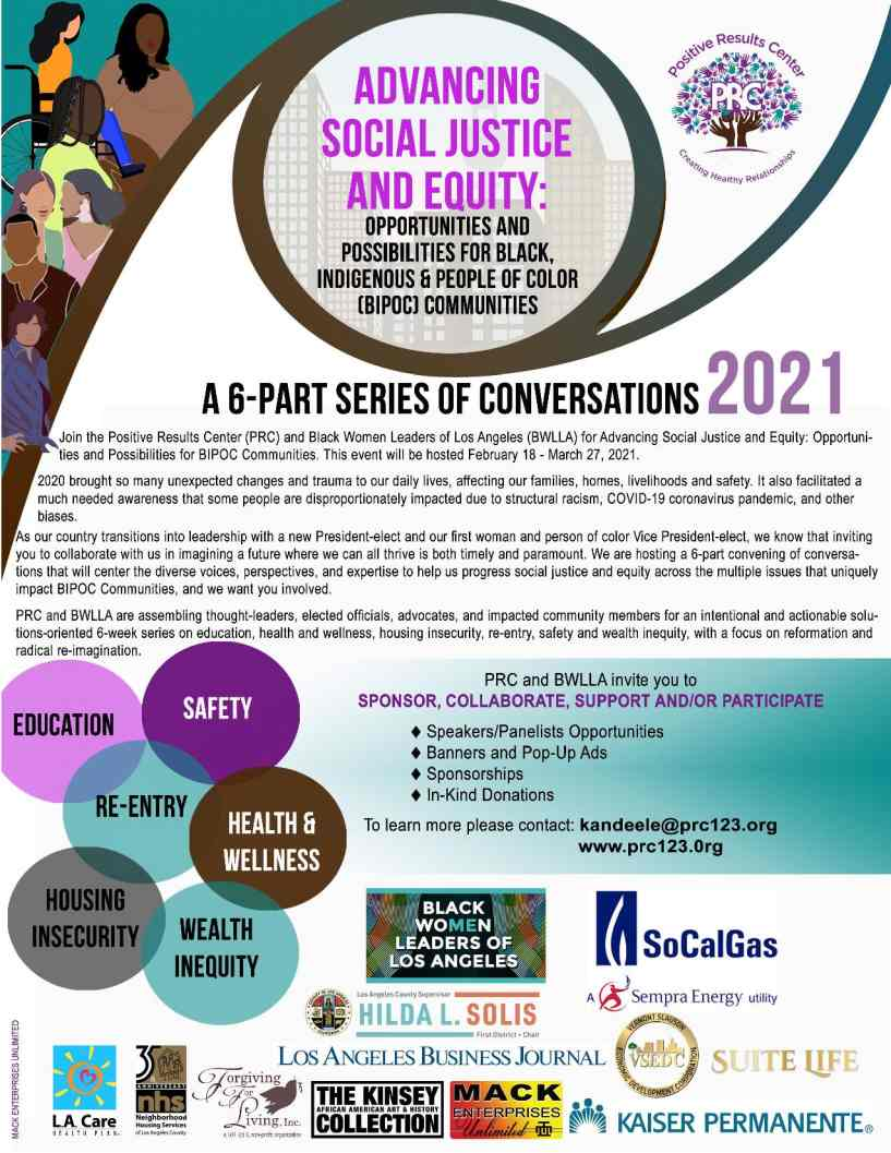 Advancing Social Justice & Equity Virtual Event