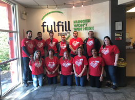 Team HFA volunteers with Fulfill.