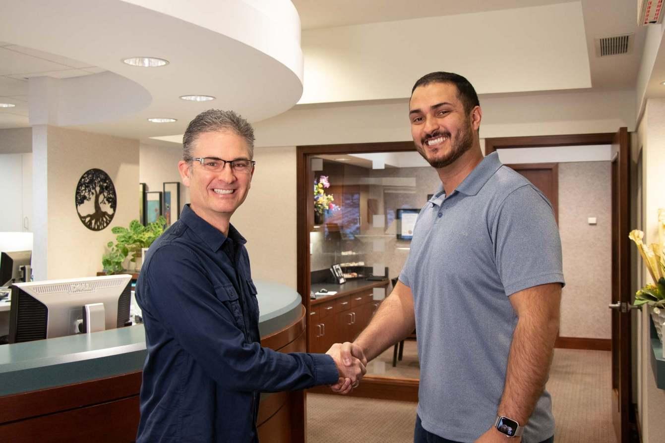Dr. David Brusky and Dr. Sebastian Munoz