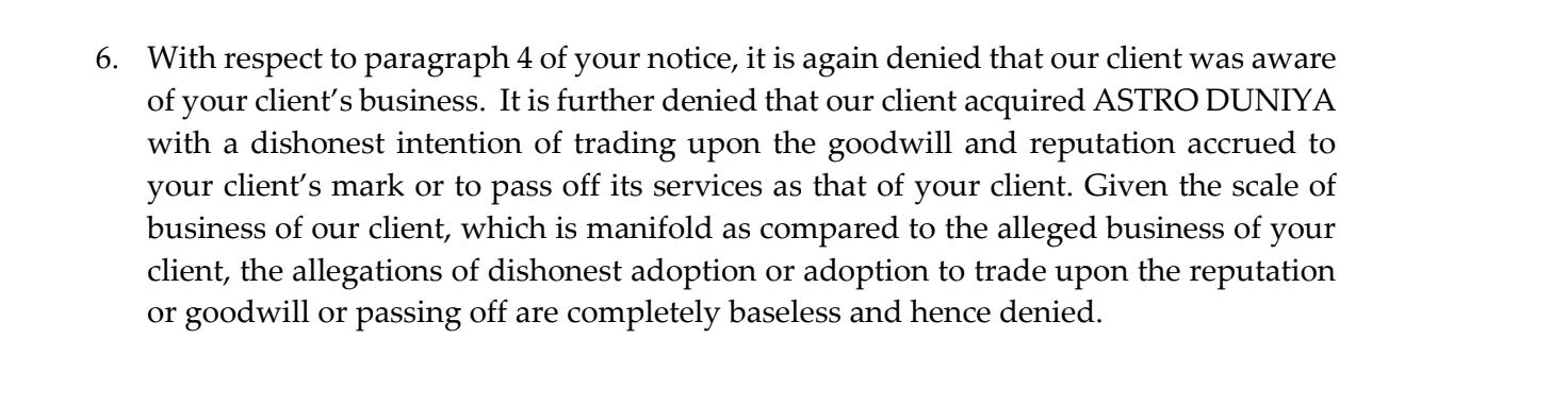Response from Tata Sky