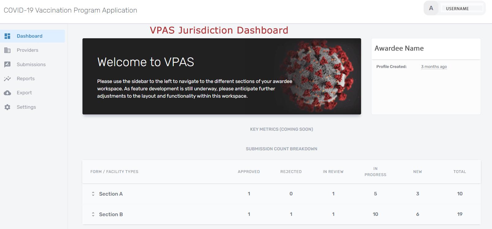 VPAS Jurisdiction Dashboard