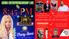 Entrepreneurship Live Show At 8 45pm Ct Love Week