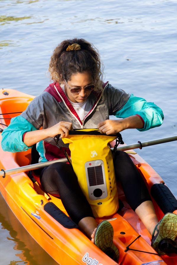 Sun Gear Dry Bag Bluetooth Speaker - Kayaking