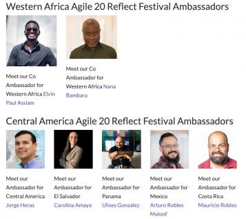 Agile 20 Reflect Ambassadors