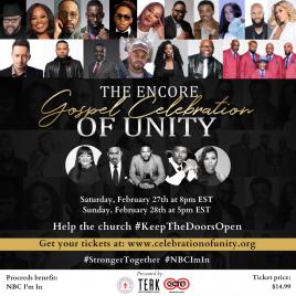 Encore Gospel Celebration Official Flyer