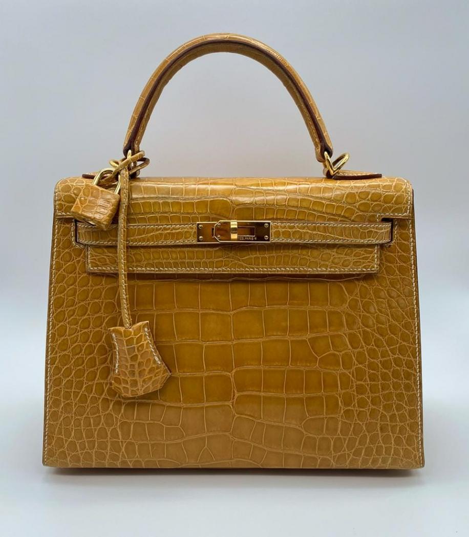Very rare Hermes Kelly Mini 25 alligator bag, 2000
