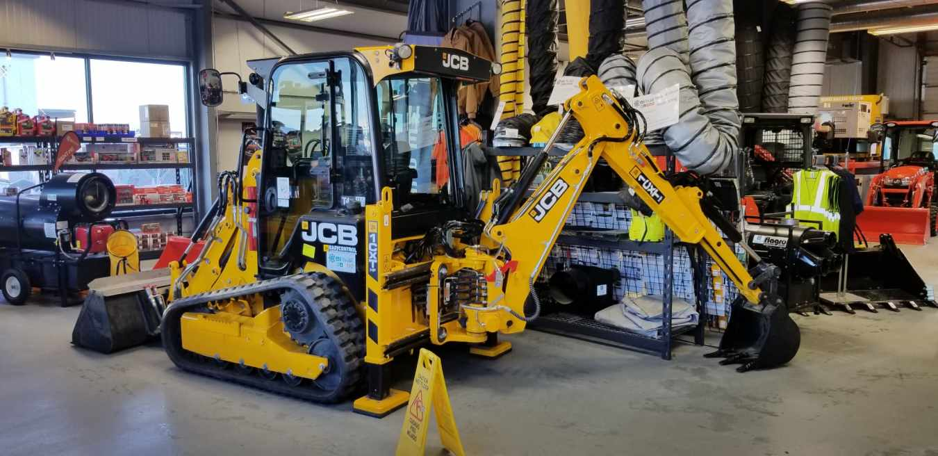 JCB 1CXT compact tracked backhoe ready for sale.