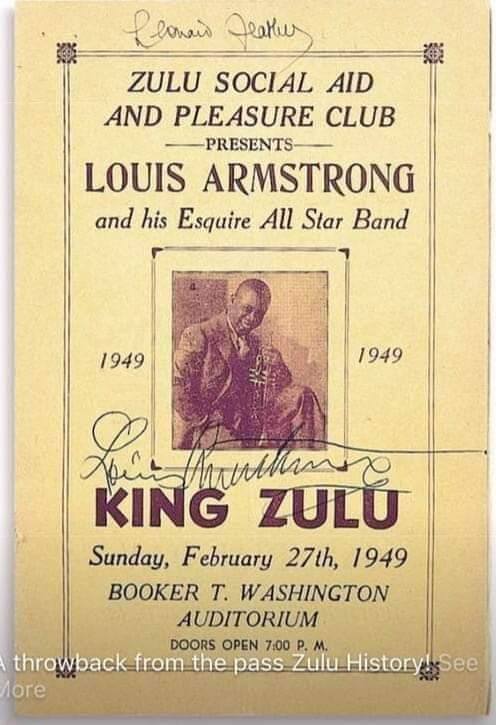 Louis Armstrong Signed Poster-NOSACONN