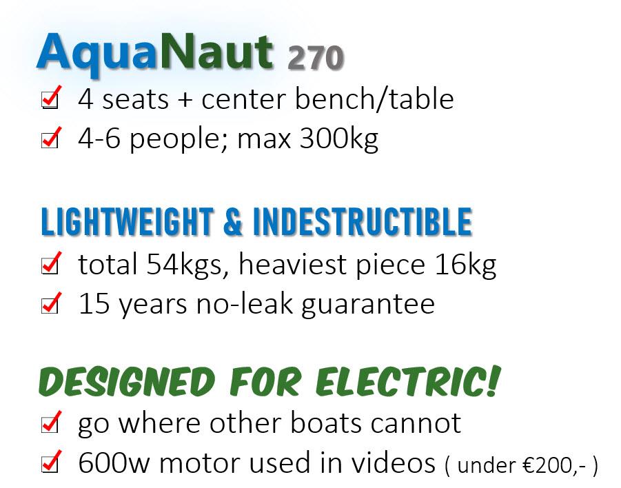 AquaNaut Features List