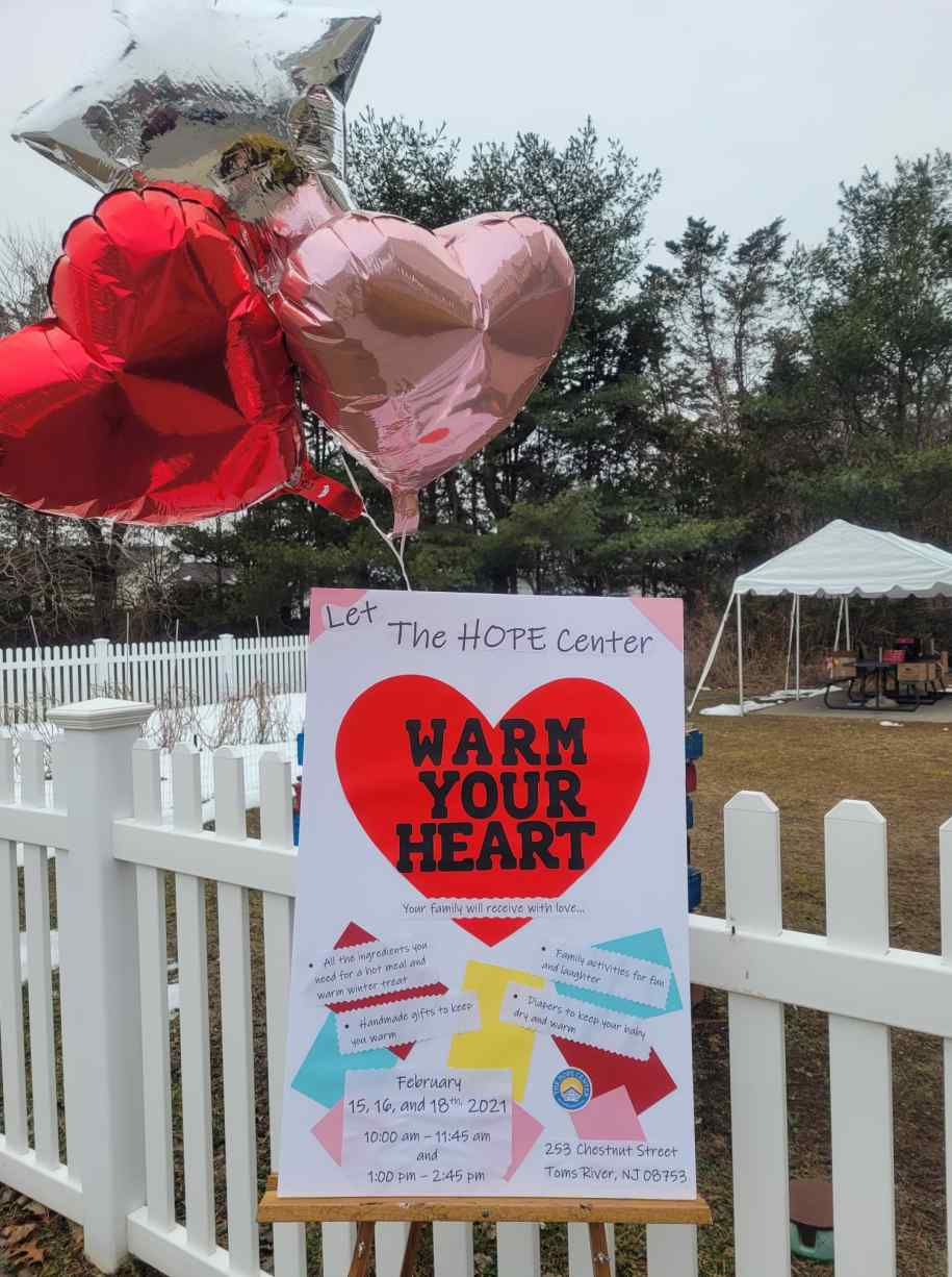The HOPE Center hosts Warm Your Heart event.