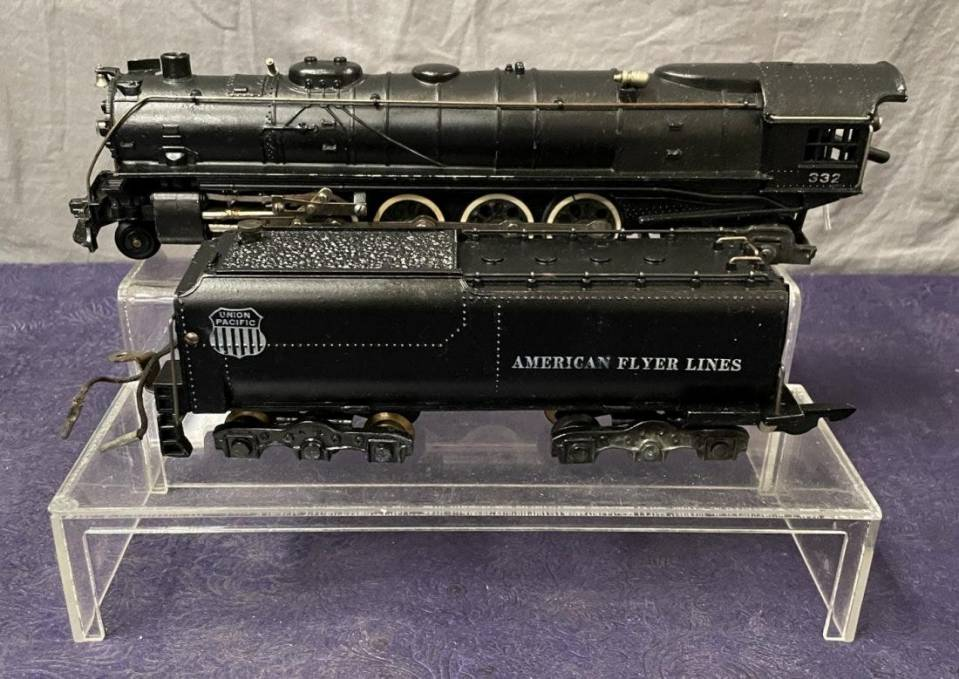 American Flyer S gauge smoke-in-tender locomotive.