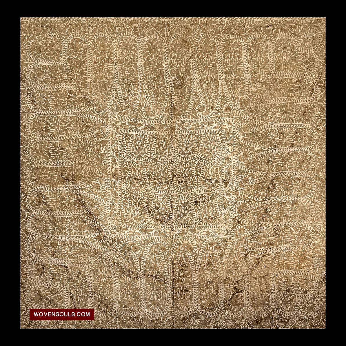 1516 A A Old Bangladesh Silk Embroidery Trade Clot