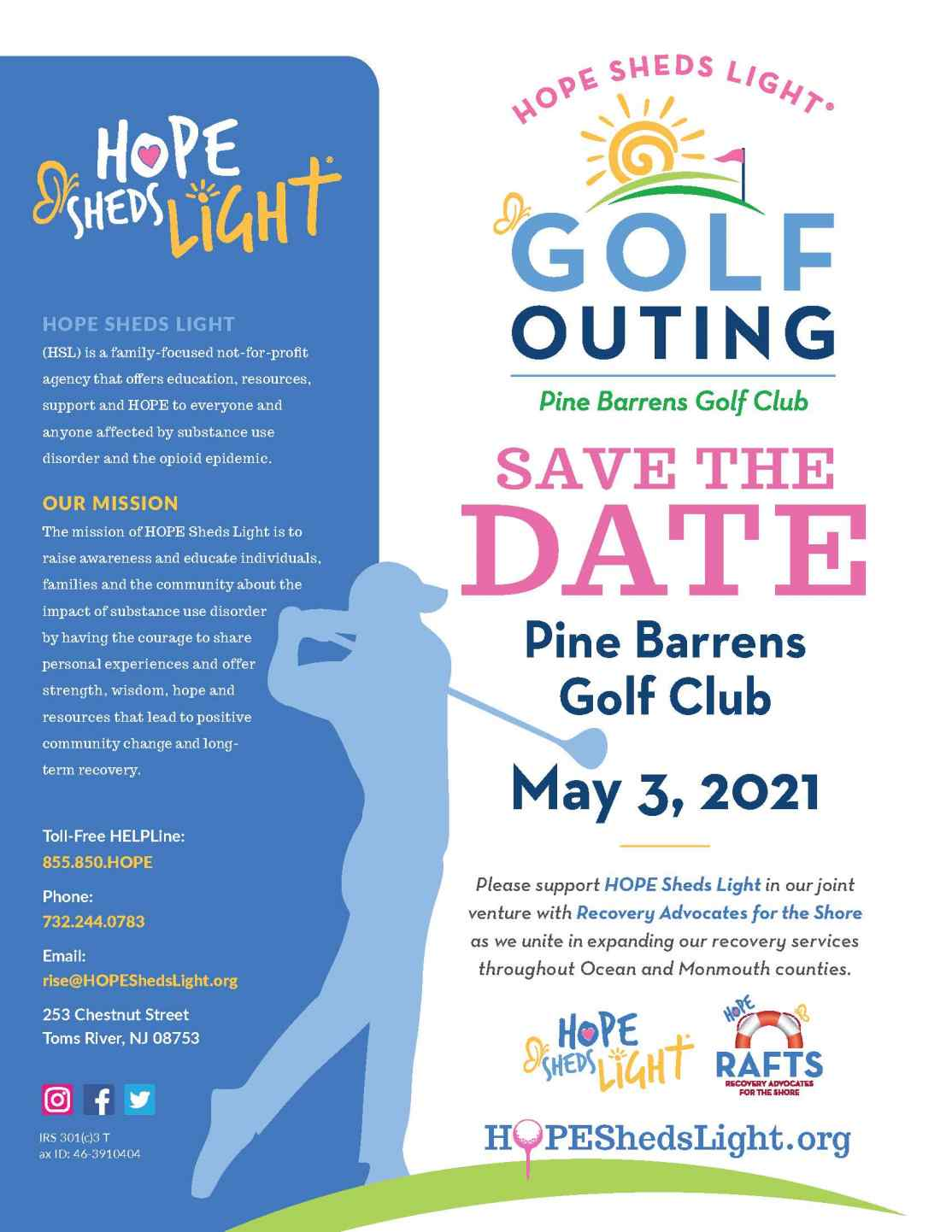 HSL will host its 1st Annual Golf Outing on May 3.