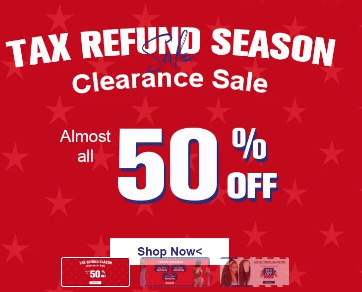 Tax Refund Season Sale