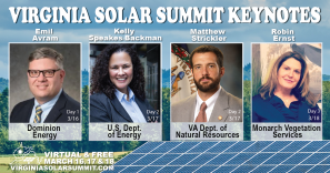 Virginia Solar Summit keynote speakers 3/16-3/18