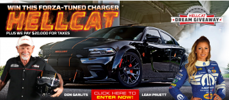 Win this 1,000 horsepower Dodge Charger Hellcat!