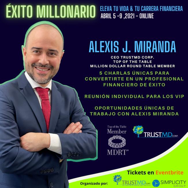 Alexis J. Miranda en Exito Millonario