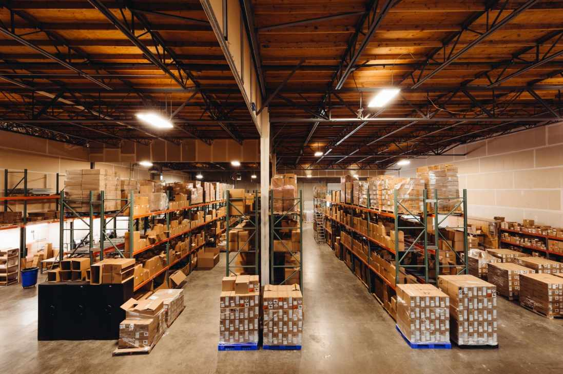 Barcoding's own warehouse in Washington State