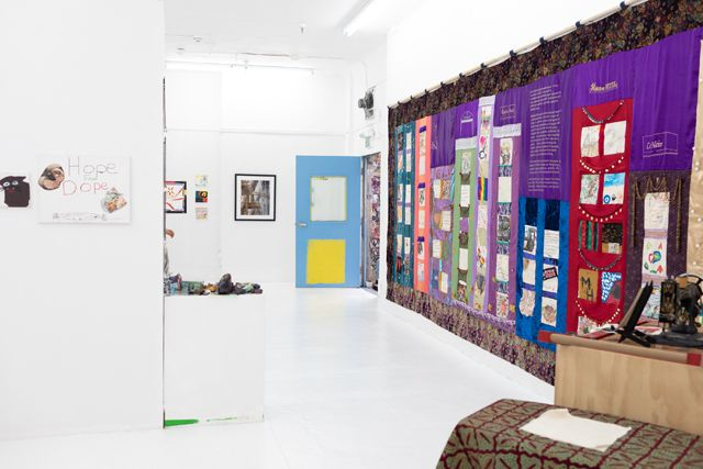 Hope Quilt in the gallery - photo by Rob Suguitan