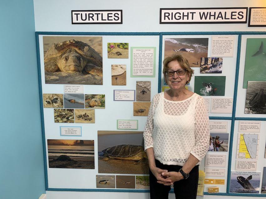 Ursula Dubrick visiting the Flagler Beach Museum.