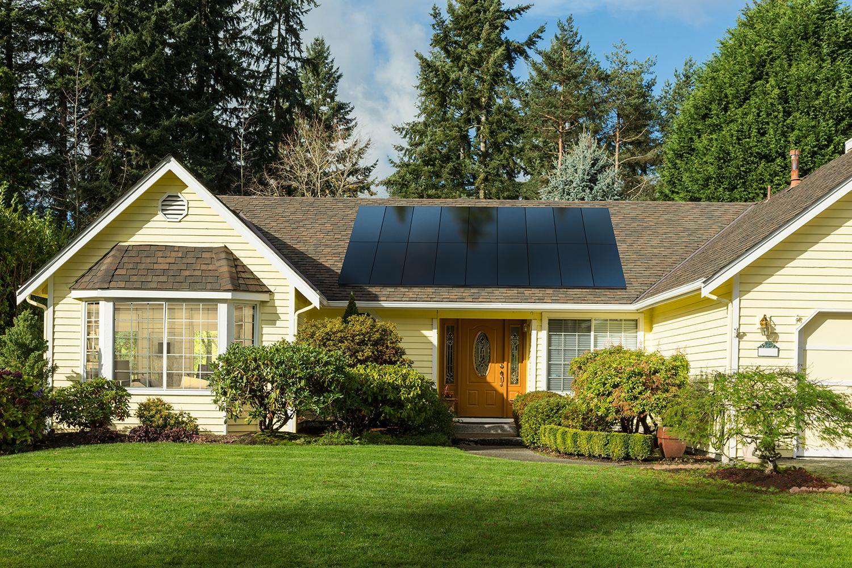 House with SunPower Solar Panels