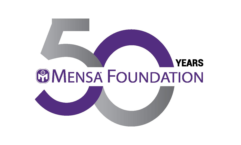 The Mensa Foundation's 50th anniversary logo.