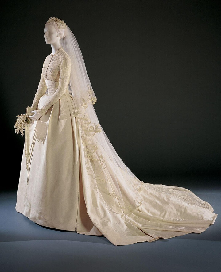 Grace Kelly's wedding gown featured on April 15