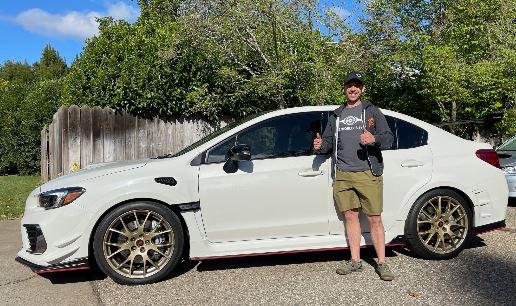 Subaru Dream Giveaway Winner Joel Belben of CA.