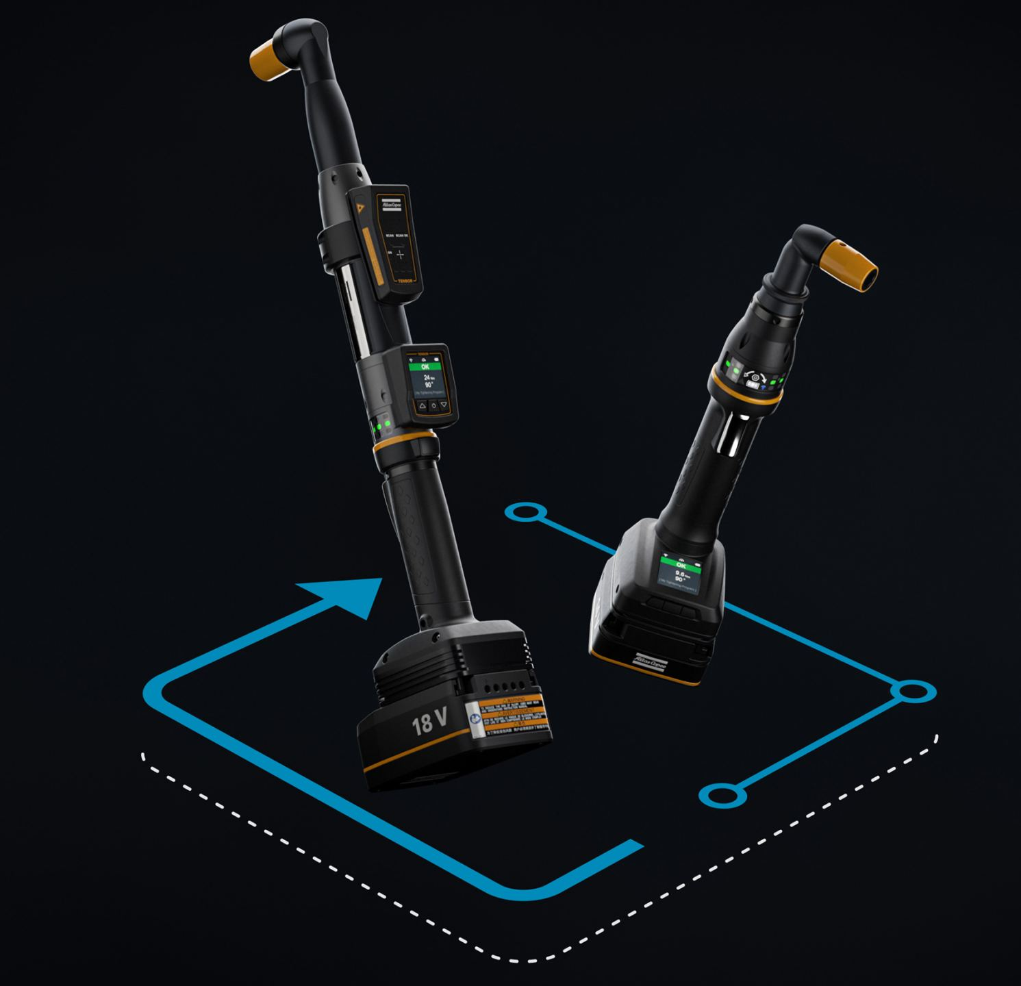 The Tensor IxB smart tool from Atlas Copco