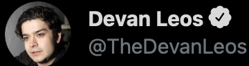 Devan Leos on social media