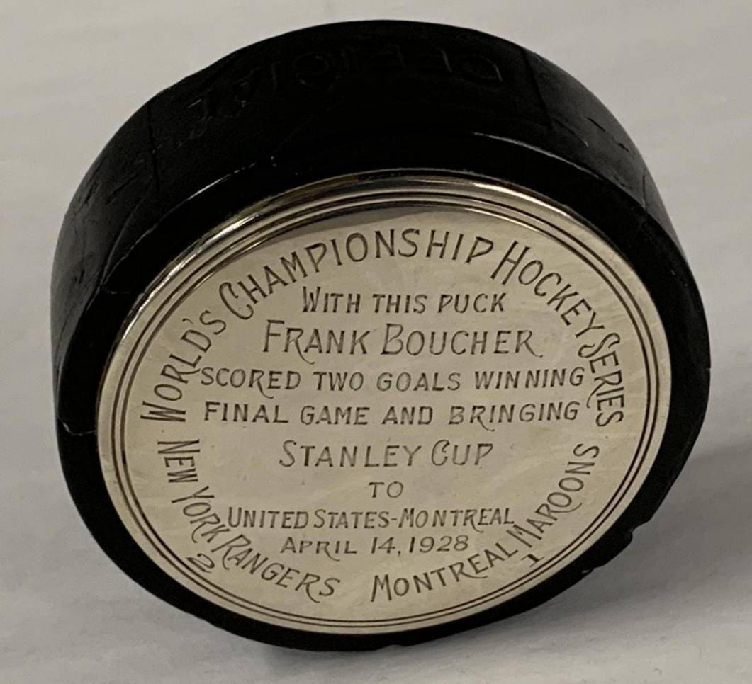 Puck used in the final Stanley Cup game of 1928.
