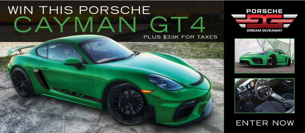 The Porsche Dream Giveaway GT4 has 20K in options!