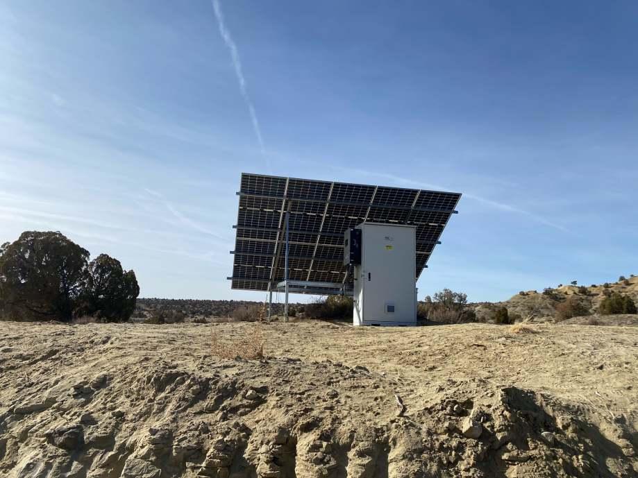 Off-grid solar installation on Navajo Nation