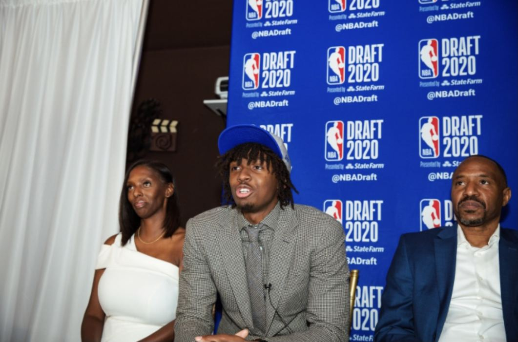 Tyrese Maxey and Family on Draft Day