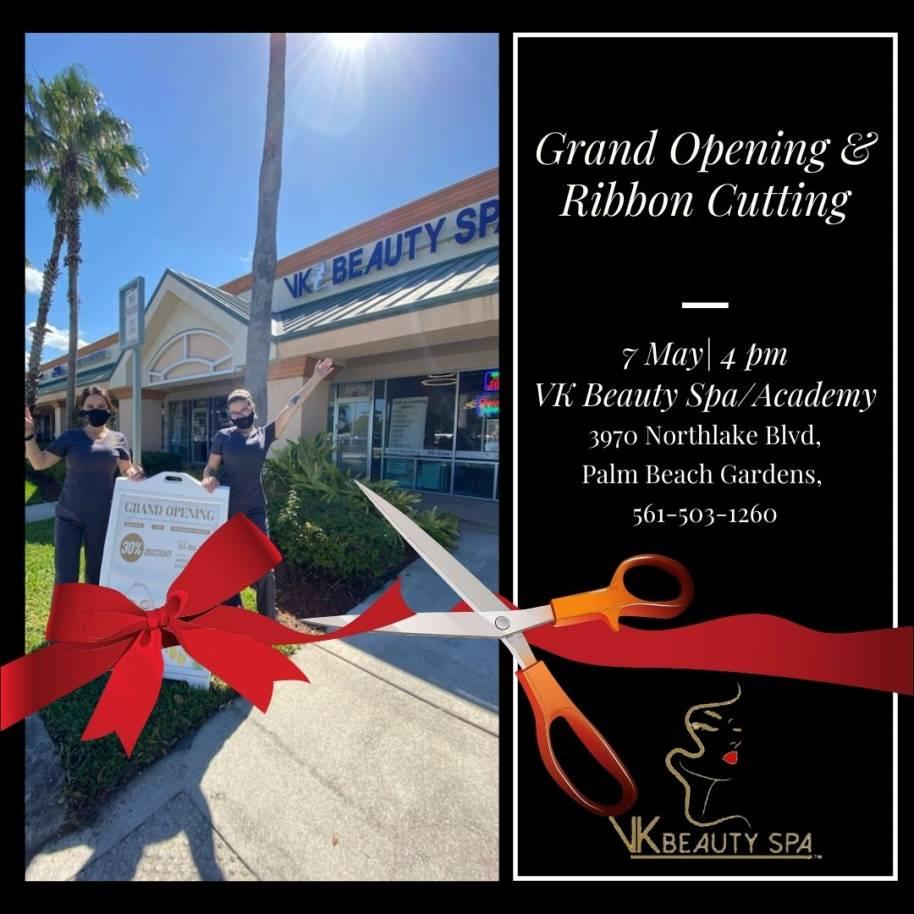 Vk Beauty Spa/Academy Grand Opening Ribbon Cutting