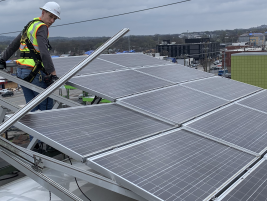 solar panels procured from roof after storm