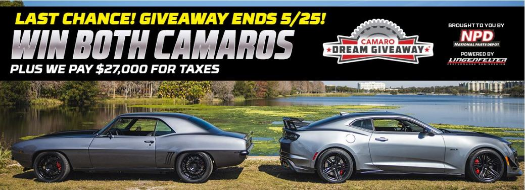 Last Chance To Enter The Camaro Dream Giveaway!