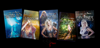 Stargate Earth series book covers.
