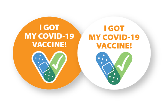 CCD Designed Vaccination Buttons and Pins