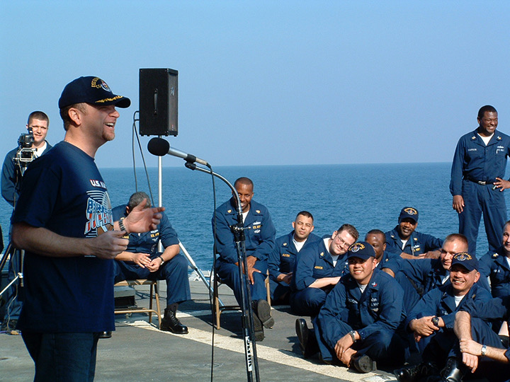 Don Barnhart Entertaining The Troops