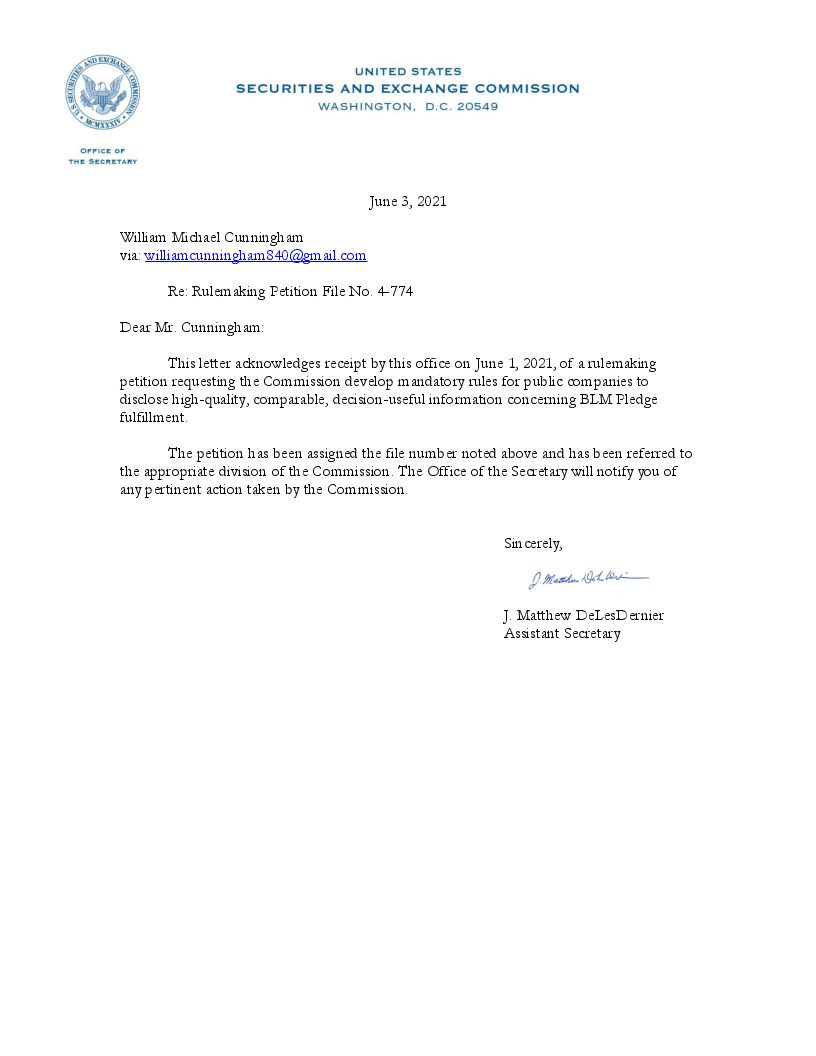 4 774 Acknowledgment Letter