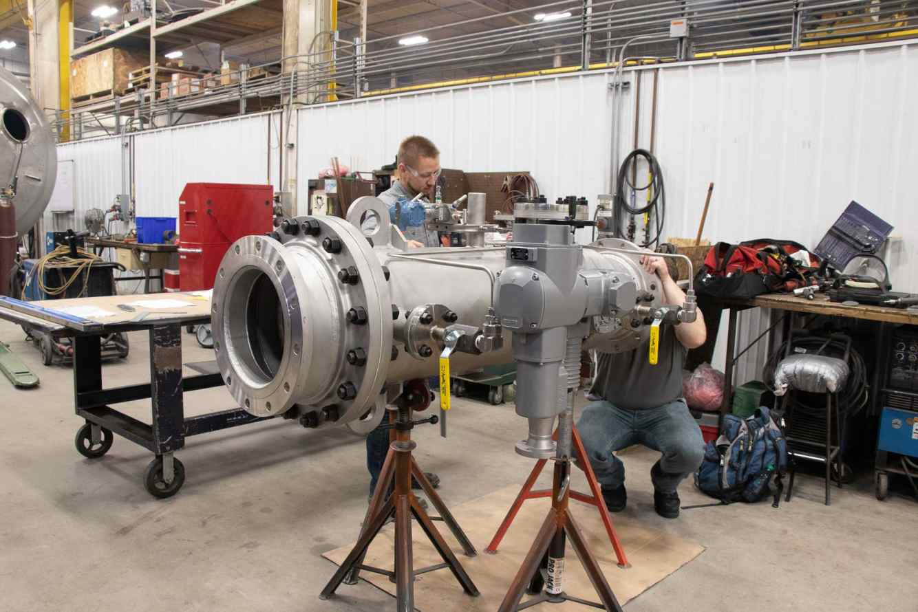 Pressure piping fabrication