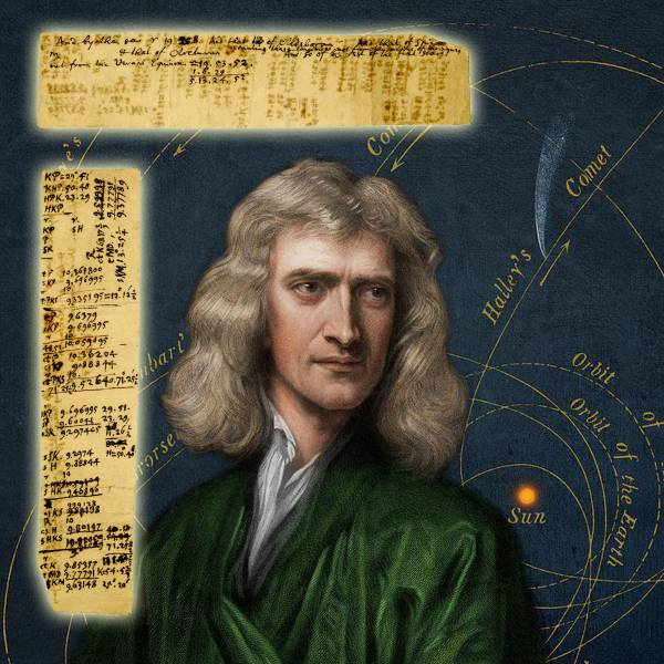 Isaac Newton handwritten notes and calculations