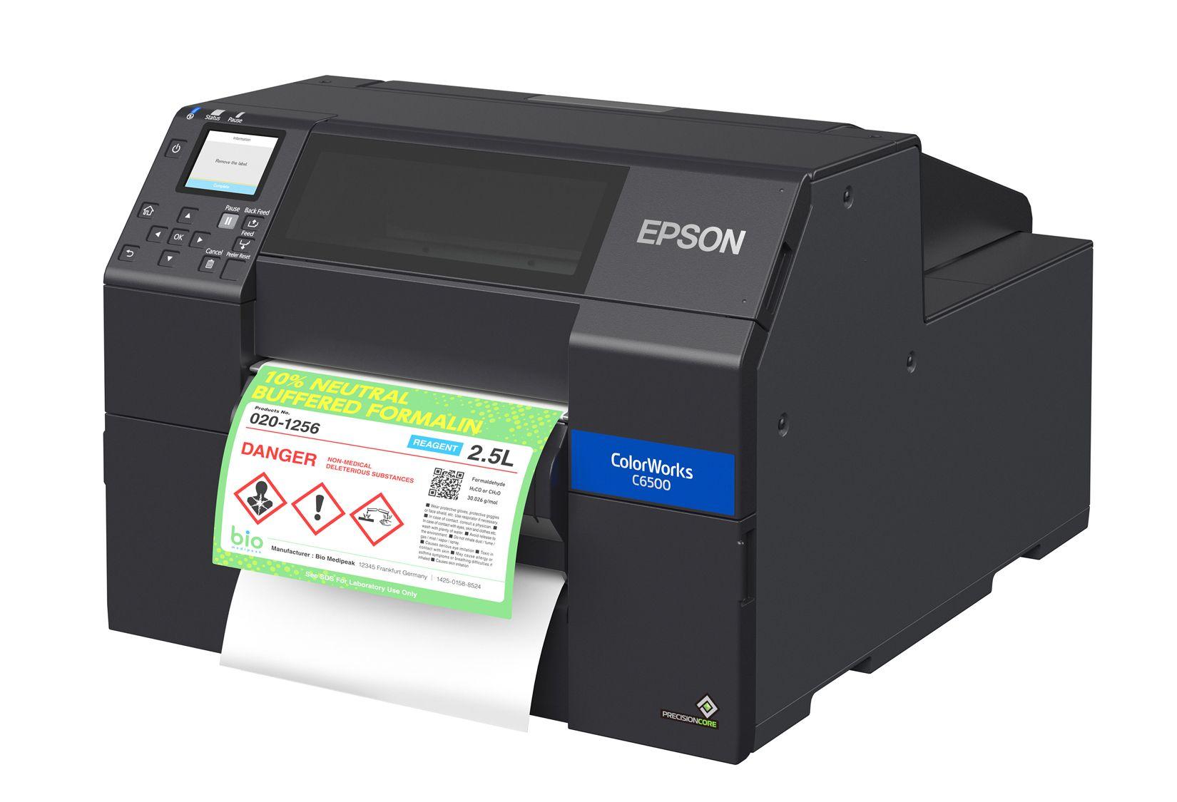 Epson ColorWorks C6500P Color Label Printer Peeler