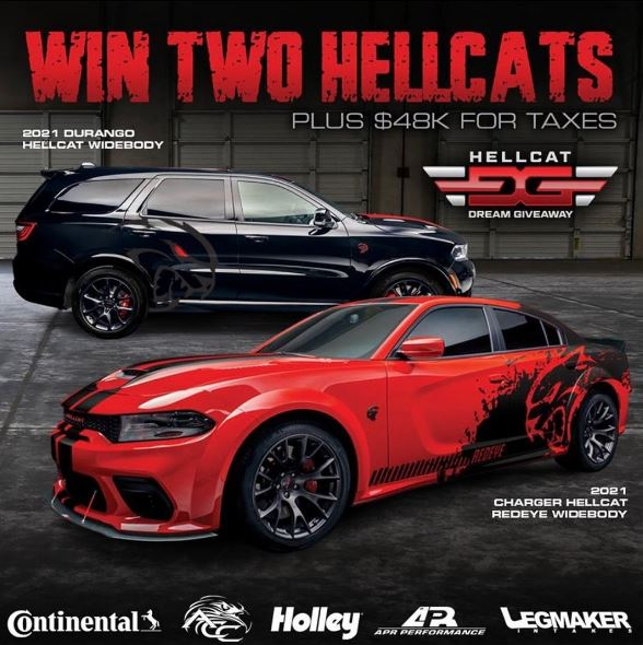 One Person Wins TWO Matching 2021 Hellcats!