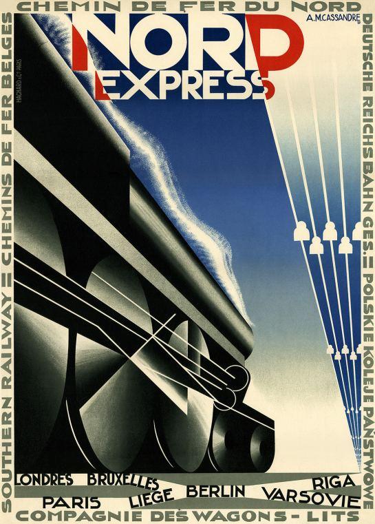 A. M. Cassandre, Nord Express (1927). $20-$25,000.