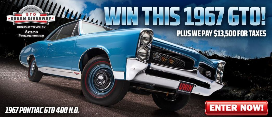 Award winning 67 Pontiac GTO one person will win!