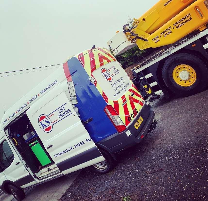 On Site Hydraulic Maintenance At Marsden Crane Hir