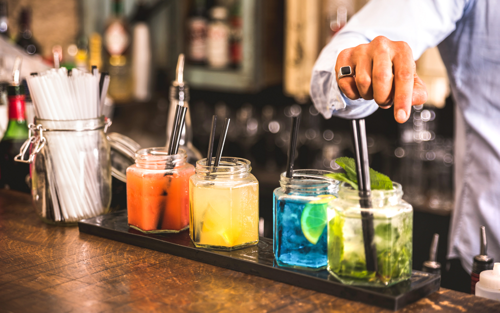 Hand At Multicolored Drinks Ismail Sirdah