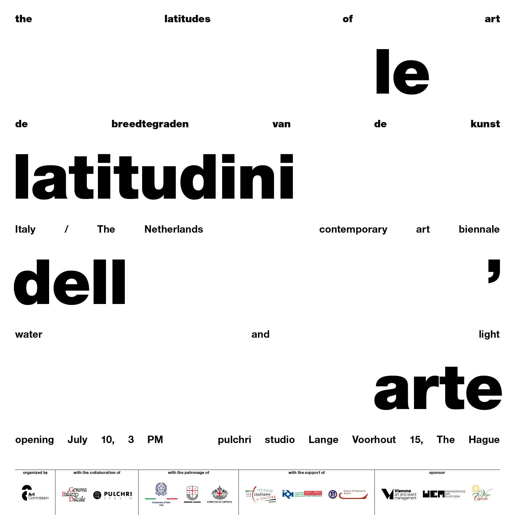 Latitudini Arte Den Haag 07.10.2021 Italia Olanda